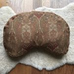 Brown sheepskin meditation cushion