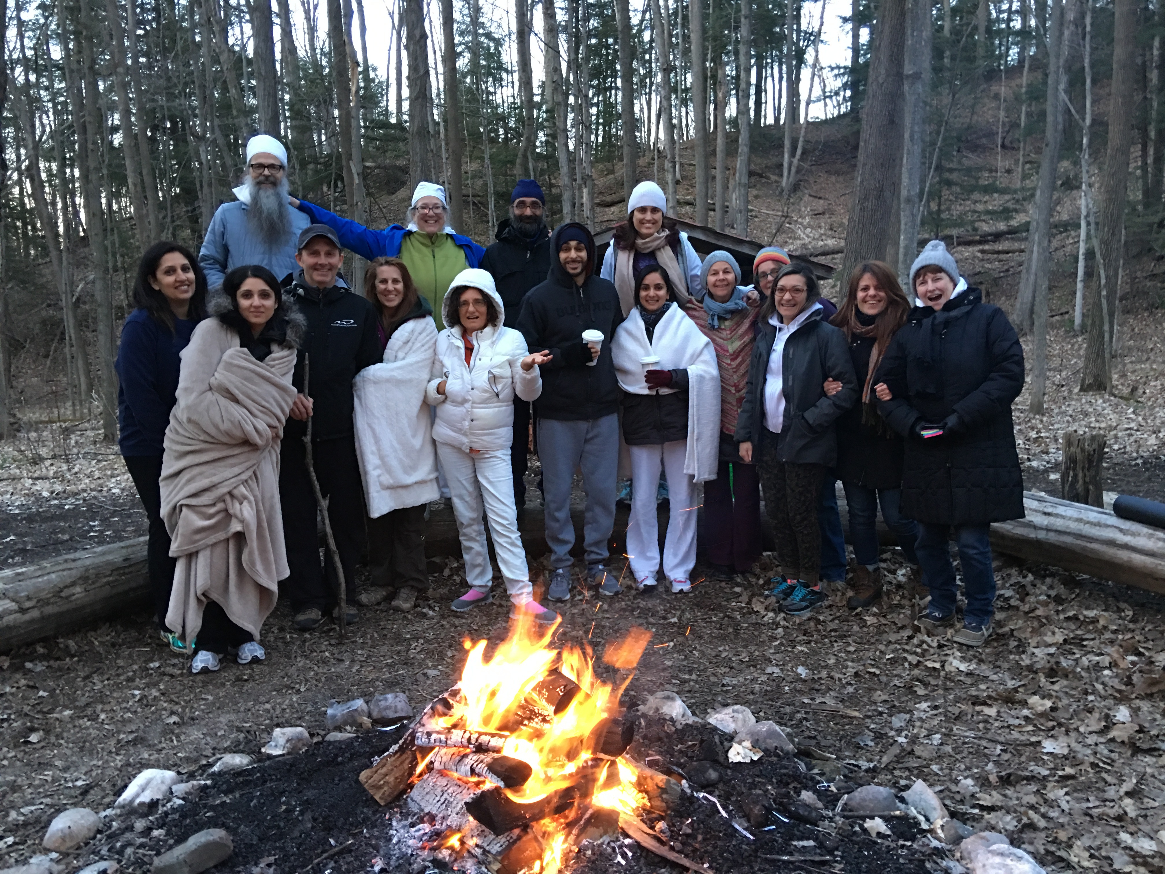 People on a Yoga Retreat in Ontario